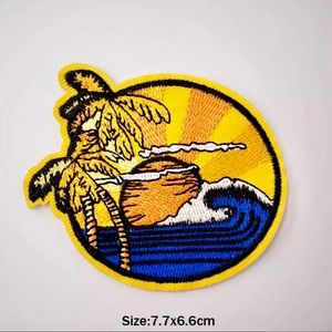 Accessories - Cool Summer Beach Scene Iron On Embroidered Patch